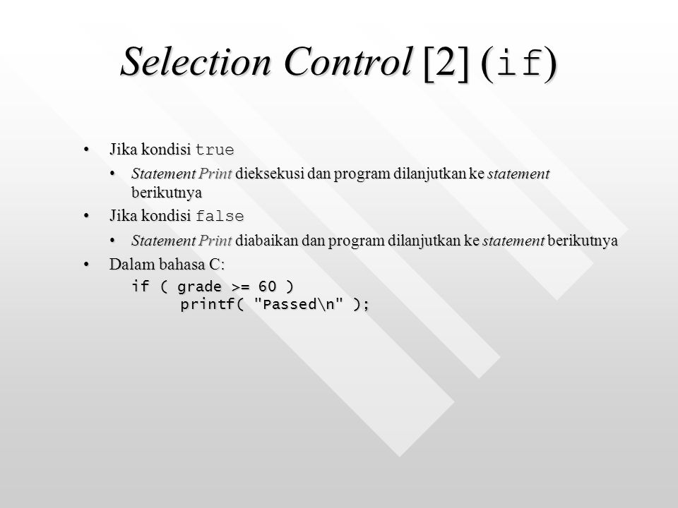 Selection Control [2] (if)
